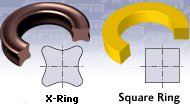 سظح مقطع X-ring Square Ring